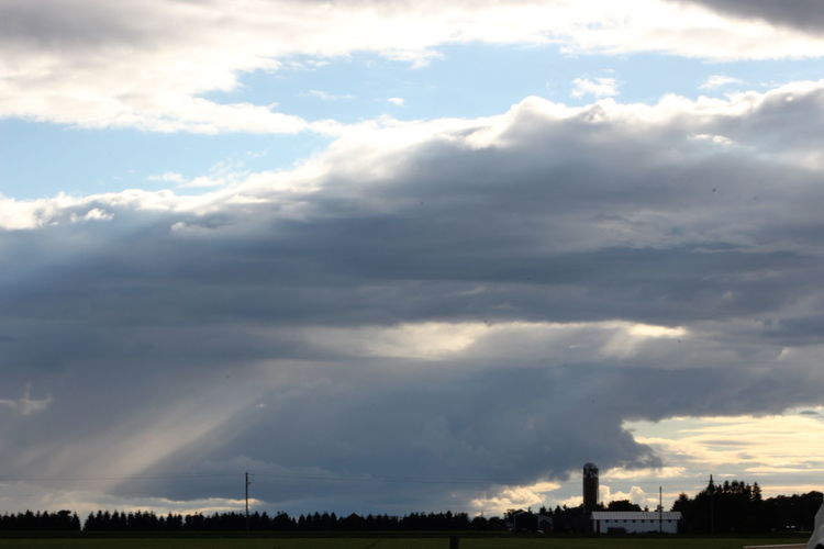 Blue Sky Grey Storm Clouds Landscape Sky Sky And Clouds Storm Stormy Weather Yellow Sky