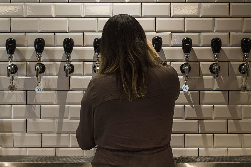 Bartender Craftbeer Food And Drink Girl Rear View Tapbeer Taproom Tile Wall Woman Portrait First Eyeem Photo