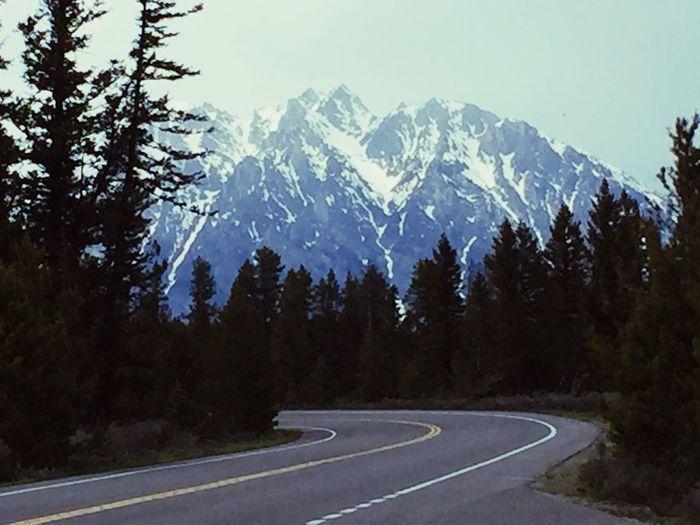 The road less traveled... Jackson Hole Wyoming Findyourpark Grand Teton National Park  Mt Moran Plant Transportation Nature Mountain Range Tranquil Scene