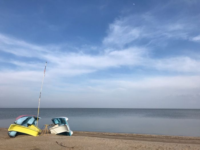 Sky Sea Cloud - Sky Water Beach Land Nature Horizon Horizon Over Water Day Scenics - Nature Beauty In Nature No People Transportation Sand Outdoors Tranquility Mode Of Transportation Tranquil Scene