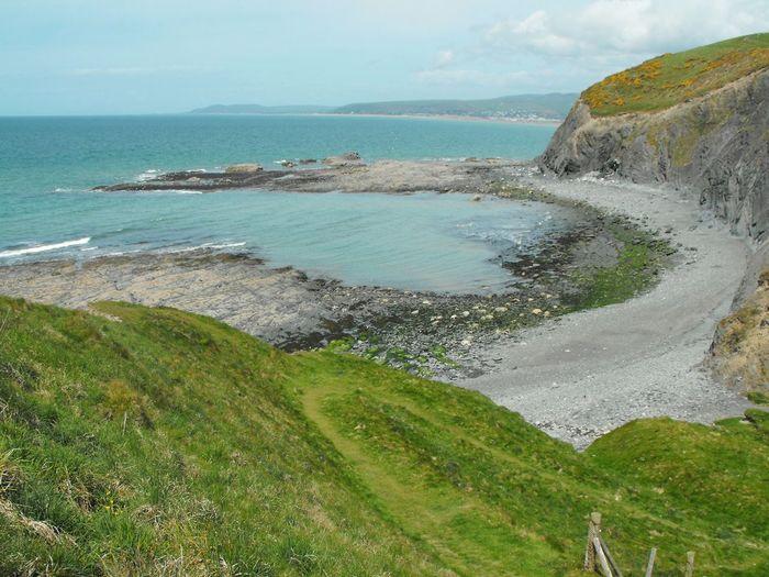 A Bay ... Sea Wales Shore Beautiful Landscape Seascape Aberystwyth Beach Shoreline Coast Coastline Mare Море берег