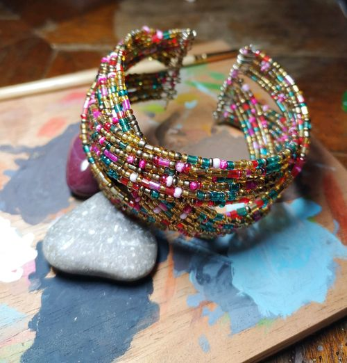 Multi Colored Females Arts Culture And Entertainment Fashion Close-up Fashion Industry Jewelry Bangle Bracelet Bead Fashion Show Jewellery