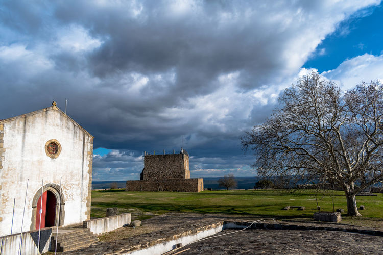 Castle of Abrantes Portugal Architecture Building Exterior Built Structure Cloud - Sky Day History Nature No People Outdoors Place Of Worship Religion Sky Spirituality