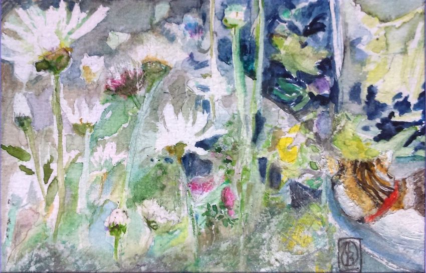 One of my new garden paintings. Watercolour 6x4 inches AMPt_community Nature Outdoors EyeEm Hd Wallpapers The Purist ( No Edit, No Filter ) ArtWork Creativity I ❤️ Garden