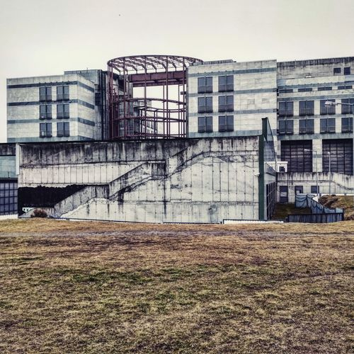 Building Construction Lost Abandoned Explore Ruin Ruined Forgotten Cement Asphalt Work Grey Europol Europolgaz Bielany Warsaw City Sky Architecture Building Exterior Built Structure
