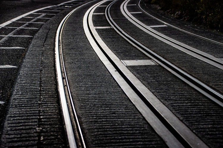 Steely curve Selected For Premium Absence Connection Curve Day Direction Empty Full Frame High Angle View Mode Of Transportation Nature Nearly Black And White No People Outdoors Parallel Public Transportation Rail Transportation Railroad Track Selective Focus The Way Forward Track Track And Field Tram Tracks Transportation Travel