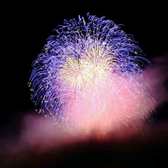 feux d'artifice Long Exposure Fireworks Mountain Streamzoofamily