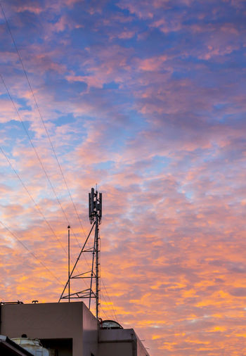 Telecom tower with dramatic cloud Aerial Antenna Broadcast Colorful Connection Damatic DramaticClouds Effact Electromagnetic Frequency Global Receiver Sattelite Scenery Sky Station Sunset Technology Telecom Telecommunications Tower Transmission Twilight Weather Wireless