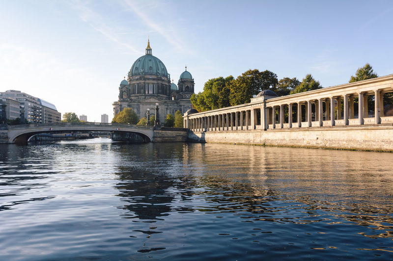 berlin cathedral at sunrise Architecture Architecture Berlin Berlin Cathedral Berliner Dom Bridge - Man Made Structure Building Exterior Built Structure City Day Daytime Dome Germany International Landmark New Day No People Outdoors Reflection Sightseeing Sky Spree River Berlin Sunrise Travel Destinations Water