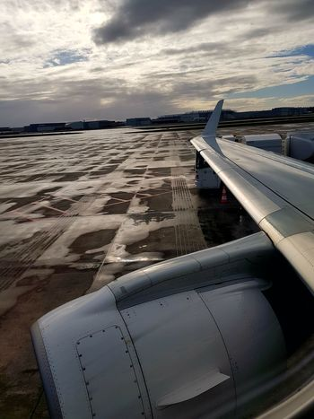 Another day another flight. Aircraft Wing Jet Jet Engine Clouds Cloudscape Dramatic Travel Flight Cloud - Sky No People Sky Travel Airplane Close-up Outdoors Day