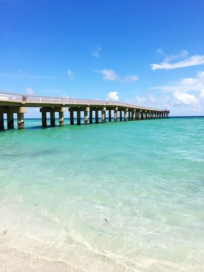 Water Sea Sky Beach Land Built Structure Nature Blue Architecture Pier Day Turquoise Colored Vacations Holiday Outdoors Trip