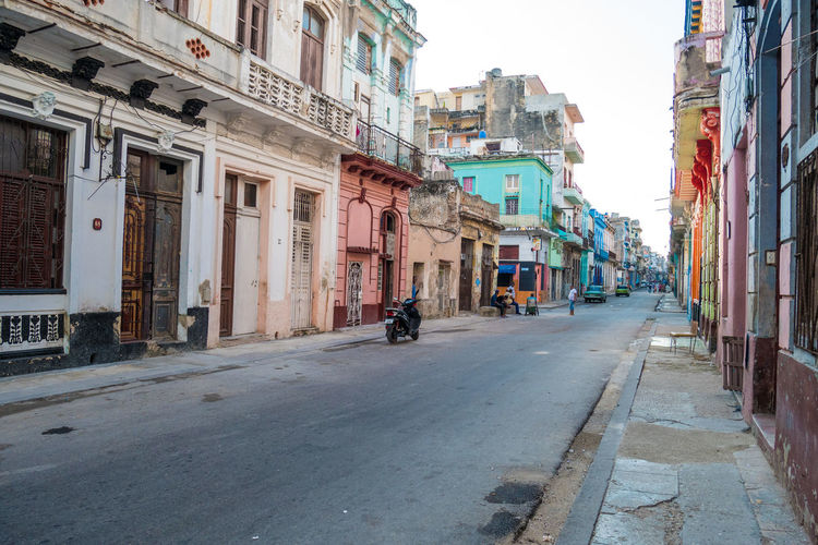 Cuba Havana Architecture Building Exterior Built Structure City Outdoors Road Street The Way Forward