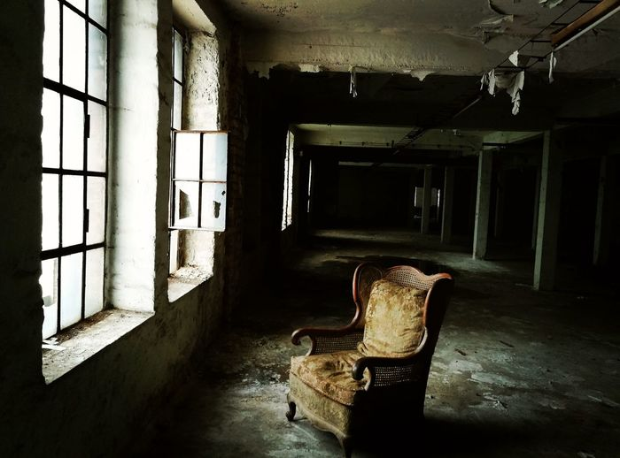 Abandoned Indoors  Window Lostplaces Lost Place Expired Creepy House Lonely Darkness And Light Old Chair Chair Creepy Ghost Factory Left Factory Ghost House Factory Building Light And Dark Ghosthouse Old Ruin Spooky Places Spooky Atmosphere Creepy Places Ruined Building Expiration