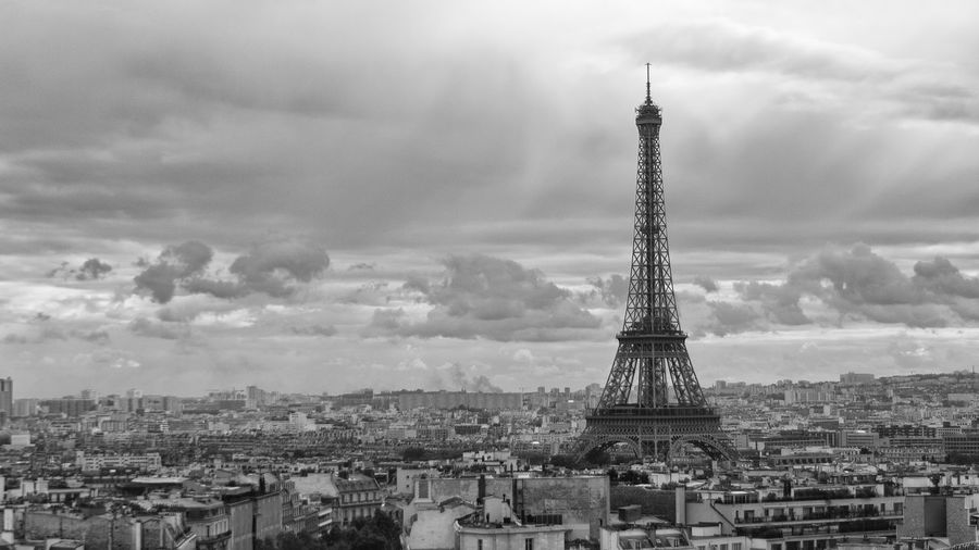 Sky Cloud - Sky Tower Architecture Travel Destinations City Outdoors Built Structure Cultures No People Technology Broadcasting Day Nature Fame Paris Tour Eiffel