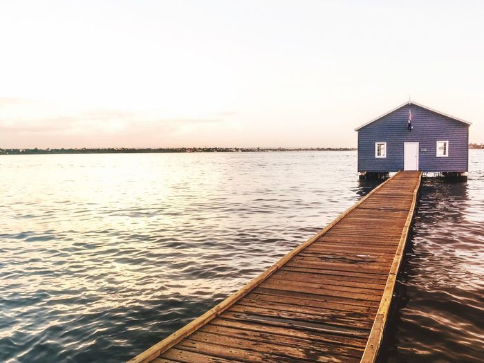 Photograph Pier Boat Shed Crawley Boatshed Riverscape River View Built Structure Architecture Building Exterior Wood - Material Leading Lines Leading No People Boardwalk Wood Paneling Tranquility Water Waterscape Swan River EyeEmNewHere Platform On Water Western Australia Travel Australia Minimalist Architecture Minimal