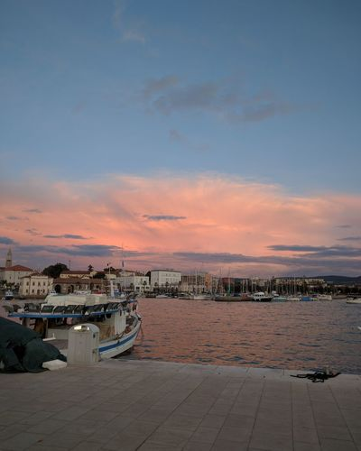 Koper Sky Cityscape Travel Destinations Outdoors Sunset Sea And Sky Skyporn Sky And Clouds Harbour View Fishing Boat Nautical Vessel Fishing Life Fishing Boats Slovenia