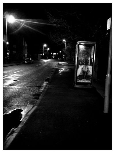 Nightphotography Street Lights Wet Deserted