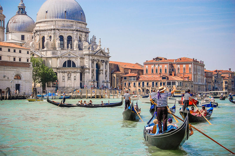 Not your regular traffic jam Architecture Boat Finding New Frontiers City Life Cityscapes Famous Place Gondola Italy Landmark Leisure Activity Lifestyles Mode Of Transport People And Places Santa Maria Della Salute Tourism Transportation Travel Destinations Venice Waterfront Traffic Jam Blue Wave Telling Stories Differently My Favorite Photo Battle Of The Cities The Street Photographer - 2016 EyeEm Awards