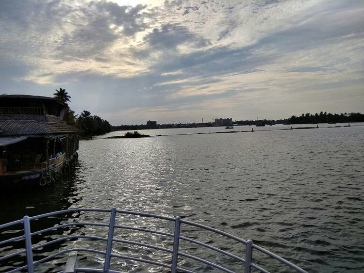 Water Sea Outdoors Cloud - Sky No People Harbor Sky Day Vacations Sunset Nature Nautical Vessel Tree Environment Alleppeybackwaters Backwaters Of Kerala Kerala The Gods Own Country ;) Lakepalace Landscape Sea And Sky Hanging Out Horizon Over Water Travel Destinations Beauty In Nature Relaxing