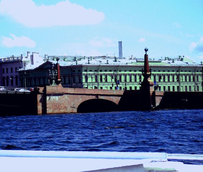 Bridge Urban Canals And Waterways Royalhistoricpalaces River Collection Northerneurope Oldarchitecture Archetecturalwonder Blues & Greens Color Enhanced