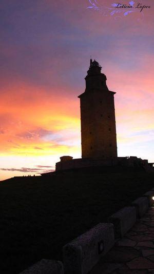 Architecture Atardecer Cloud - Sky Coruña España Faro De Hercules Travel Photography