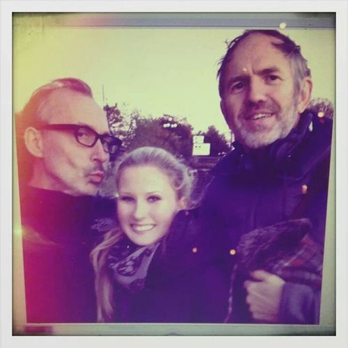 "with my bosses Anton Corbijn and benoit delhomme at ""a most wanted man"" Film Photographers Filmcrew"