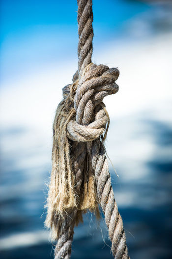 Close-up of rope against the sky