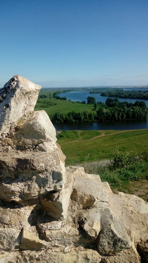 Nature Beautiful Nature Confluence Of Two Rivers Panoramic View Panoramic Summer Russia Russian Nature Medieval Devil Tower In Yelabuga Devil's Ancient Settlement Fortress Remnants Yelabuga Yelabuga Attraction Confluence Of The Kama And The Koyma Rivers Travel Traveling Water Clear Sky Rock - Object Sky Horizon Over Water Landscape My Best Photo