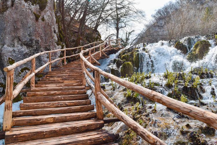 Plitvice Lake National Parkl Croatia EyeEm Best Shots EyeEm Nature Lover Landscape Landscape With Whitewall National Park Nature Plitvice Stairs Wooden