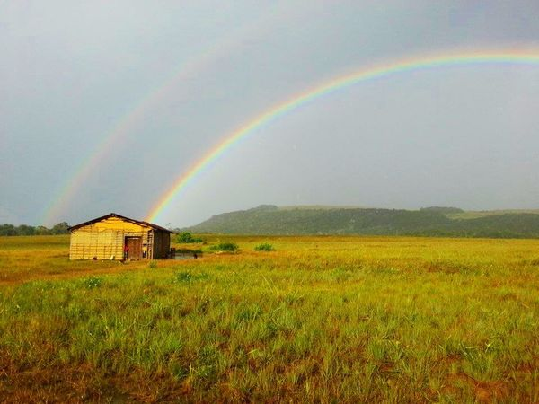 Agriculture Architecture Beauty In Nature Built Structure Day Double Rainbow Eyem Nature Lovers  Eyemphotography Field Grass Horizon Idyllic Landscape Moments Mountain Multi Colored Nature Outdoors Perfect Rainbow Rural Scene Scenics Sky Tranquil Scene Tranquility