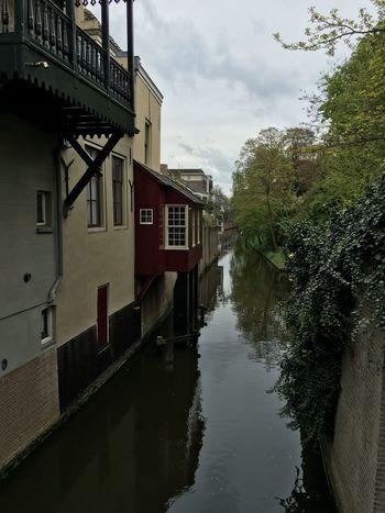 De Dieze 's Hertogebosch 's Hertogenbosch Dieze Terrace Canal Netherlands Overcast No People