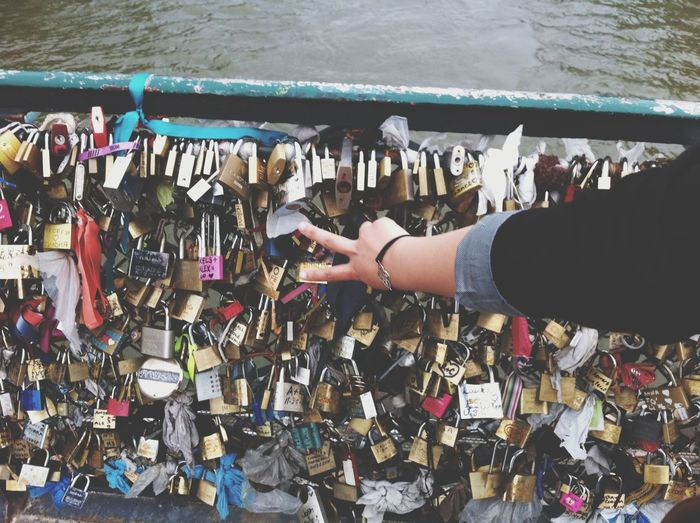 Paris, France  Lovebridge Outdoors One Person Close-up City Love Lockbridgeparis Mobile Photo