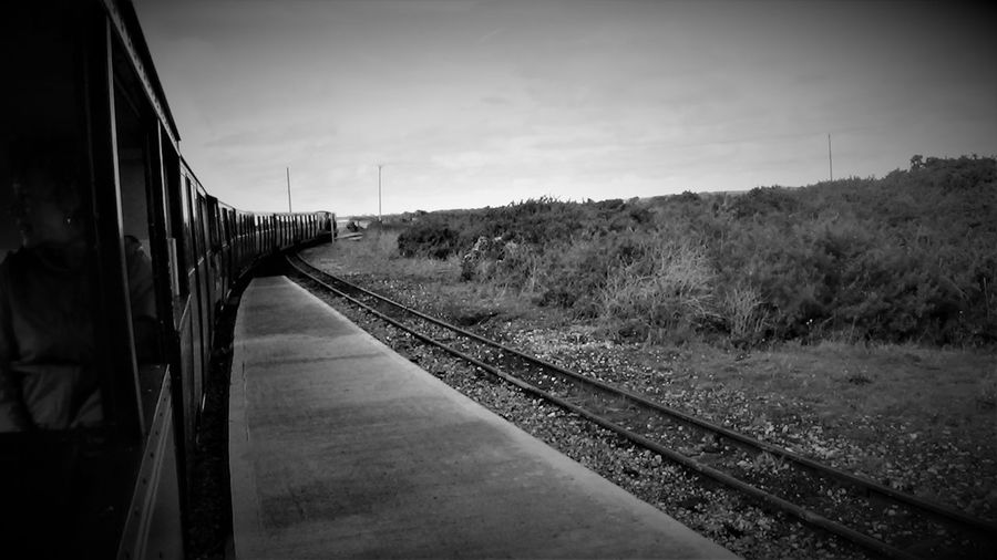 Dungeness Station RH&DR 2017 2017 2017 Year Black & White Black & White Photography England, UK Great Britain RH&DR RHDR Romney Hythe And Dymchurch Railway Romney, Hythe & Dymchurch Railway Travel Photography United Kingdom Blackandwhite Photography Kent England Nature No People Outdoors Public Transportation Rail Transportation Railroad Track Railway Track The Way Forward Train - Vehicle Transportation Travelphotography