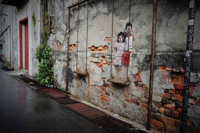 Malaysia Pulau Penang Georgetown Streetart Ernest Zacharevic Streetphotography