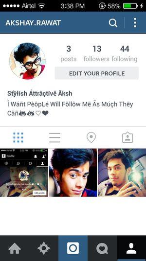 Just Follow Me On Instagram Guyz ??♥★♡☆♡♥??