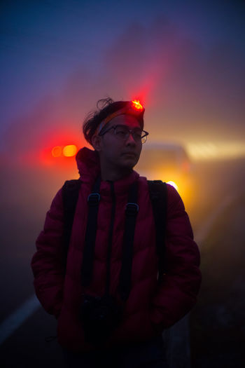 ME @ Doi Inthanon National Park Asian  Glasses Morning Nightphotography Thai Travel Winter Fog Leisure Activity Lifestyles Mystery Nature Night One Person Orange Color Outdoors People Photographer Real People Sky Standing Sunset Waist Up Young Adult Young Men The Portraitist - 2018 EyeEm Awards The Traveler - 2018 EyeEm Awards