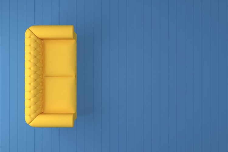 Abstract Yellow sofa with blue room wall 3Drendering. 3D 3D Art 3d Rendering 3d Rendering Designs 3Dart 3DS 3dsMax Abstract Abstract Backgrounds Abstract Photography Abstractart Abstractions In Colors Day Design Design Interior Designing Designs Furniture Furniture Design Furnituredesign Furnitures No People Sofa Yellow Yellow Color