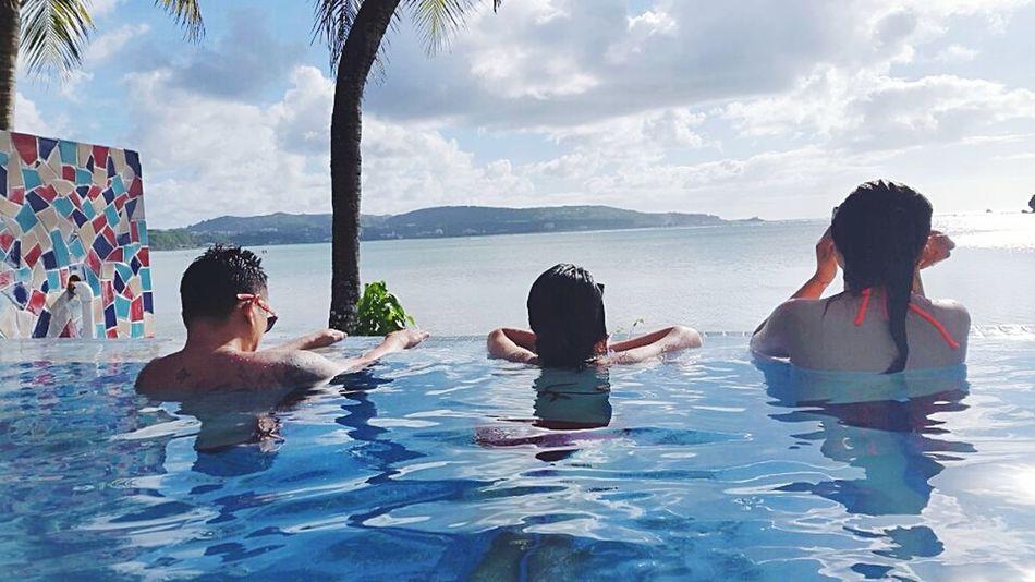 Enjoying Guam's scenic view Beautiful Surroundings Holiday Relaxing Guamsunset Guam