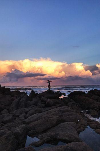 Balance Sea Sky Beauty In Nature Water Beach Tranquility Cloud - Sky