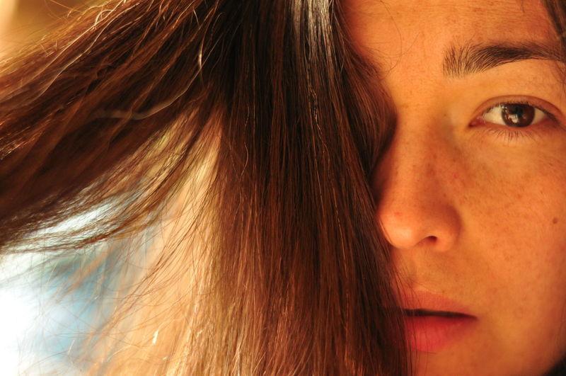 Beauty Brown Eyes Brown Hair Face Freckles Half Face Long Hair Portrait Of A Woman Woman Portrait Uniqueness