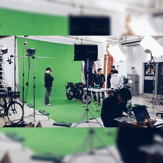 Video Shoot Green Screen OpenEdit Motorcycle