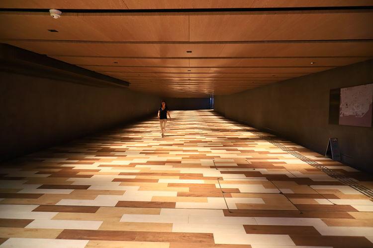 Hello World Tadaa Community Architecture Discoverhongkong Geometric Shape Indoors  One Person Underground Walkway Walking 17.62°