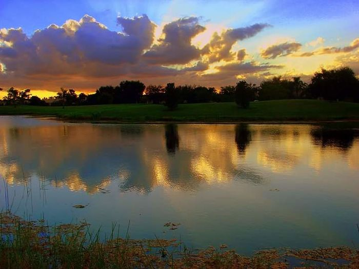 Reflection Sunset Lake Tree Water Scenics Nature Sky Cloud - Sky Beauty In Nature Autumn Landscape Outdoors Multi Colored Tranquil Scene Dawn No People Leaf Mountain Forest