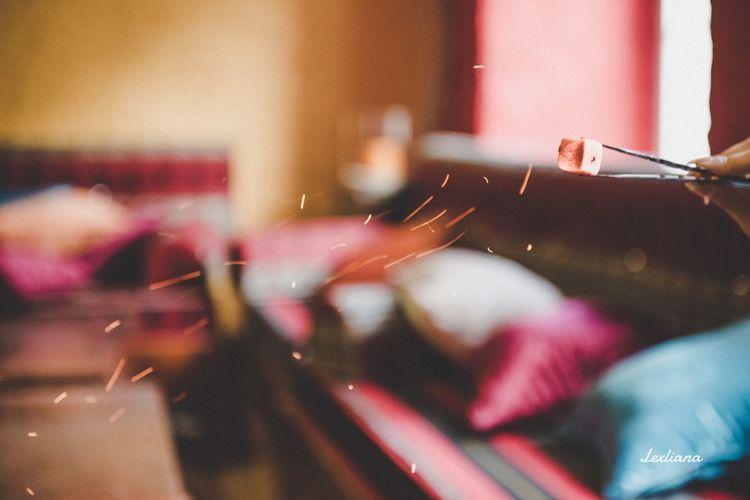Blowing Smoke Shisha EyeEm Selects Indoors  Night Close-up Real People Illuminated Freshness