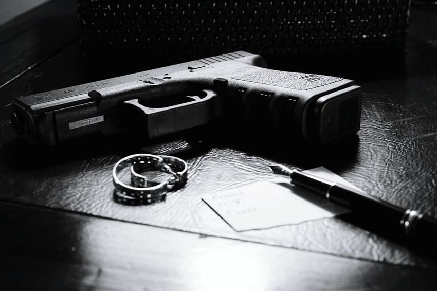 Finding beauty in the Glock. Noir Glock19 Fountain Pen Black And White GLOCK Guns