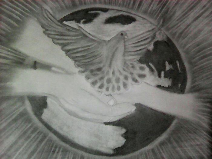 😍😍 Lindo desenhoo Paz No Mundo