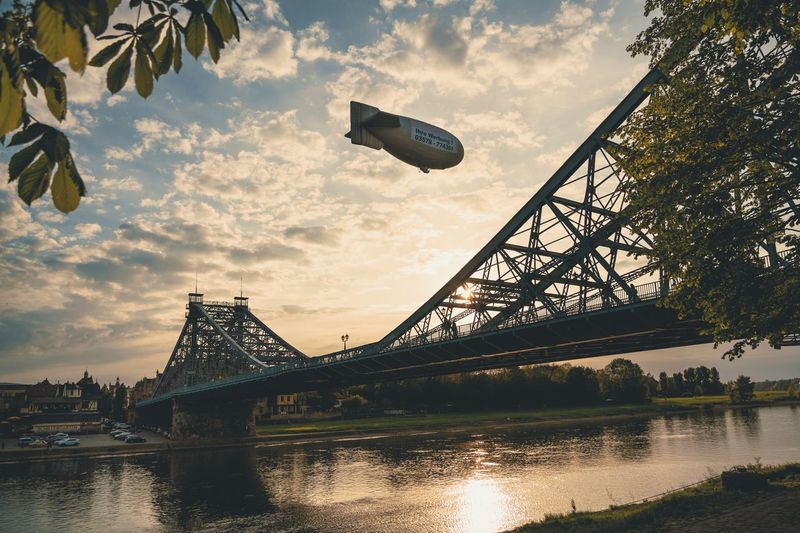 Blaues Wunder Sunset Ddpics Elbflorenz Zeppelin Adventures In The City Focus On The Story EyeEmNewHere