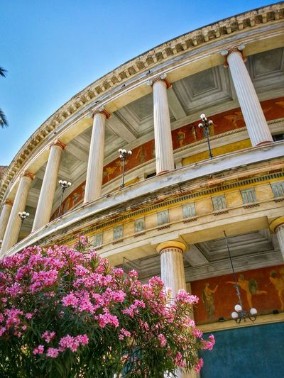 Teatro Politeama Palermo Sicily Italy Travel Photography Travel Voyage Traveling Mobile Photography Fine Art Neoclassical Architecture Historical Monuments Arcades Painted Columns Mobile Editing Feel The Journey