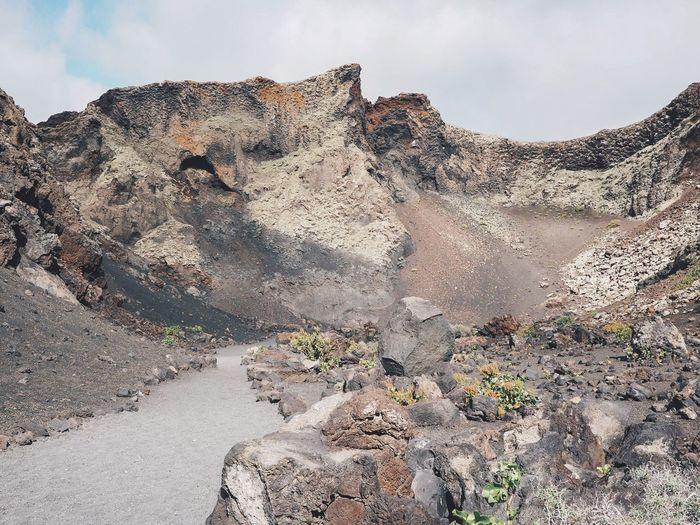 El volcan de