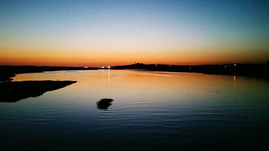 Orange sky over the lagune Lagune Quinta Do Lago Bridge View Bright Colors Hanging Out Relaxing